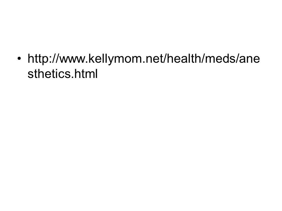 •http://www.kellymom.net/health/meds/ane sthetics.html