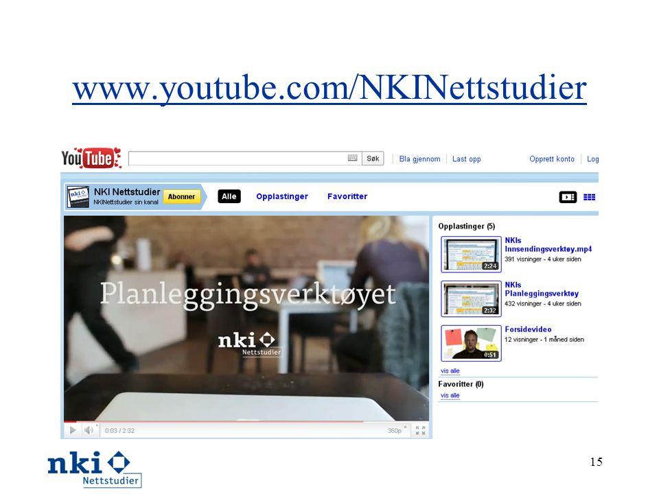 www.youtube.com/NKINettstudier 15