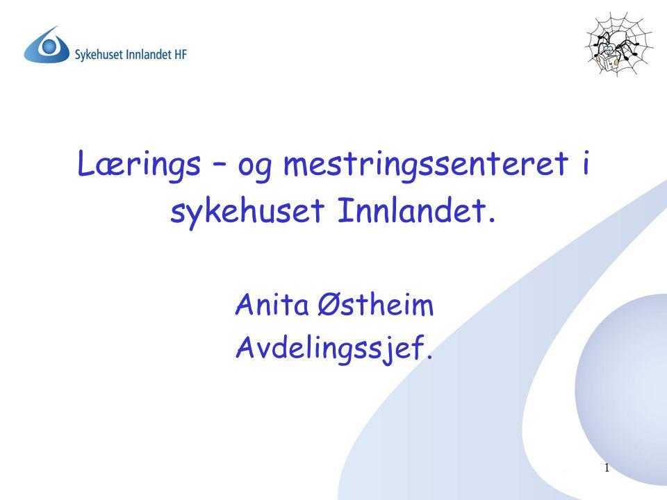 Lærings – og mestringssenteret i sykehuset Innlandet. Anita Østheim Avdelingssjef. 1