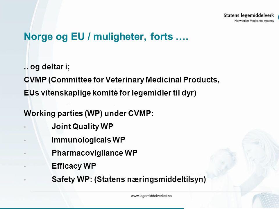 17 Norge og EU / muligheter, forts …...