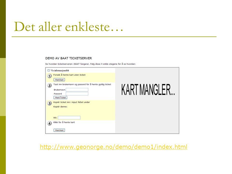 Det aller enkleste… http://www.geonorge.no/demo/demo1/index.html