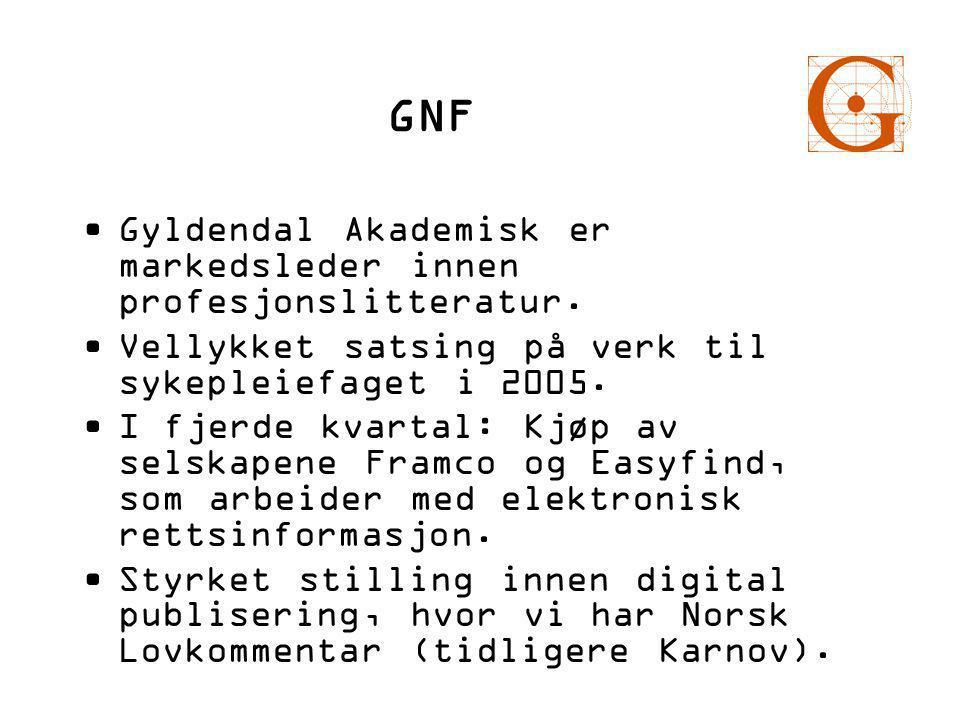GNF •Gyldendal Akademisk er markedsleder innen profesjonslitteratur.