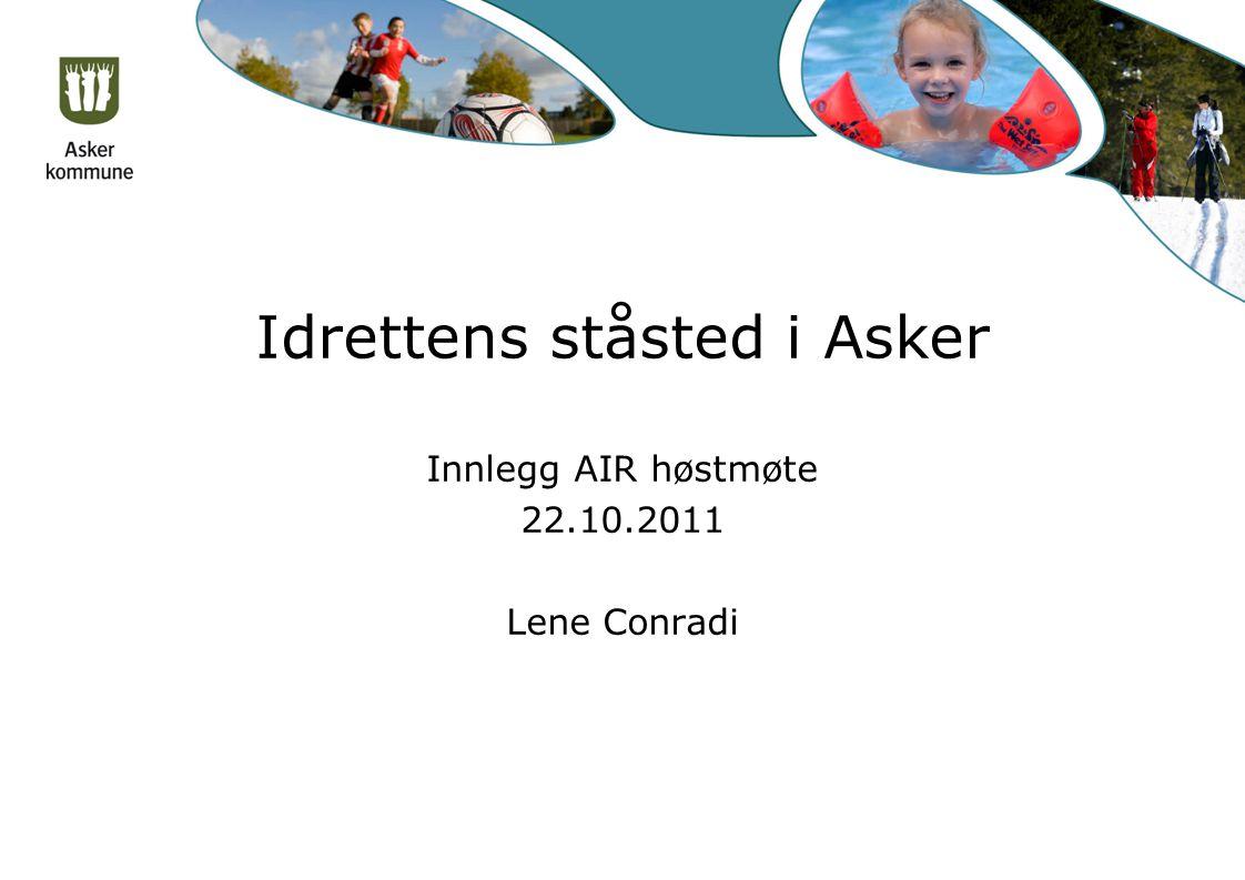 Idrettens ståsted i Asker Innlegg AIR høstmøte 22.10.2011 Lene Conradi