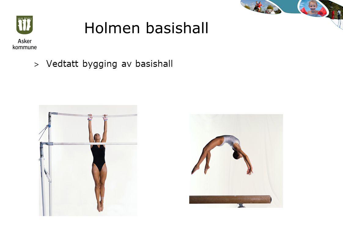 Holmen basishall > Vedtatt bygging av basishall