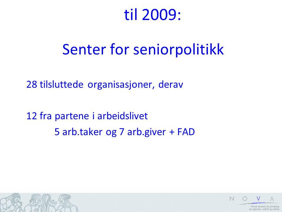Forskningsbasert Opprettelsen var begrunnet i forskning Omleggingene var basert på forskning Tre av fire ledere har først vært ved NGI Åsmund Lunde kom fra NGI i 1987 På hans initiativ kom et forskningsprosjekt om personalpolitikk og eldre arbeidstakere i gang i 1990 (FAFO).
