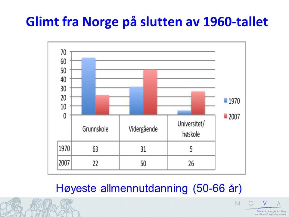 Arbeidsledighet (x10) (16-74 år) og sysselsetting 55-74 år 1972 -1989 (AKU)