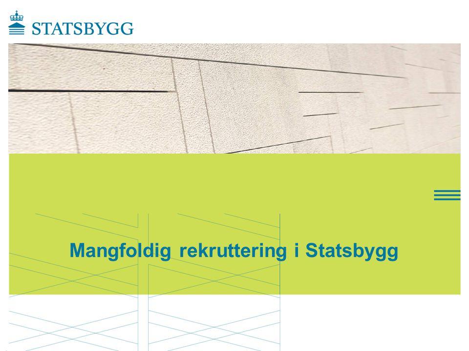 Mangfoldig rekruttering i Statsbygg