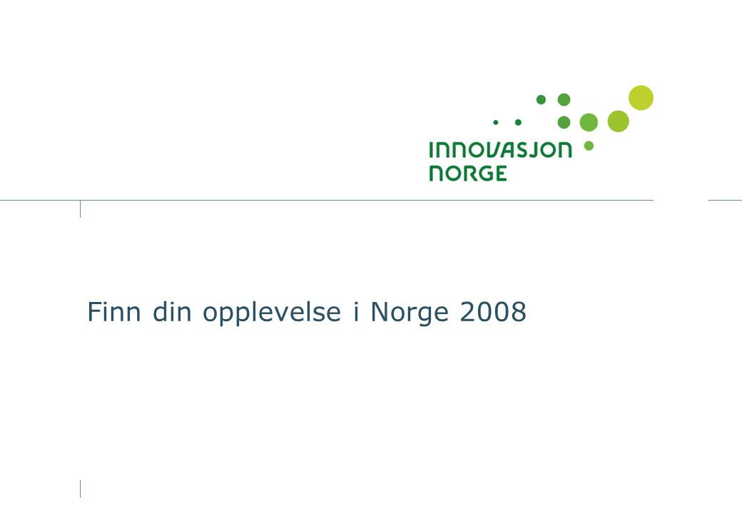 2 Spennende og annerledes opplevelser i Norge 2008 Norge er et skattekammer av ferieopplevelser mange nordmenn har til gode å oppleve.