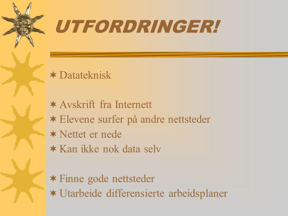 UTFORDRINGER.