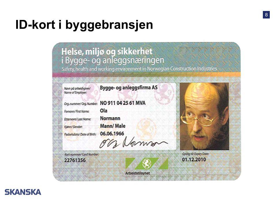 8 ID-kort i byggebransjen