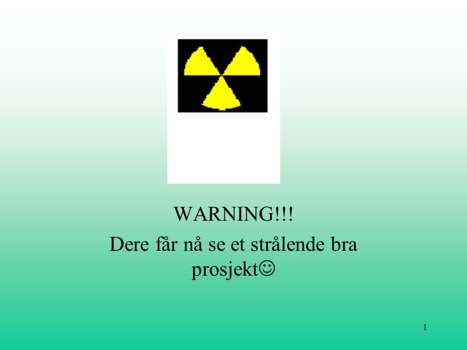 1 WARNING!!! Dere får nå se et strålende bra prosjekt 