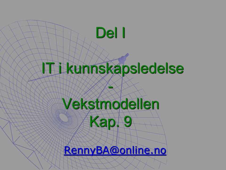 IT i Kunnskapsledelse Del I - Renny Bakke Amundsen 33