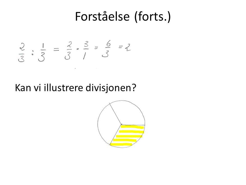 Forståelse (forts.) Kan vi illustrere divisjonen?