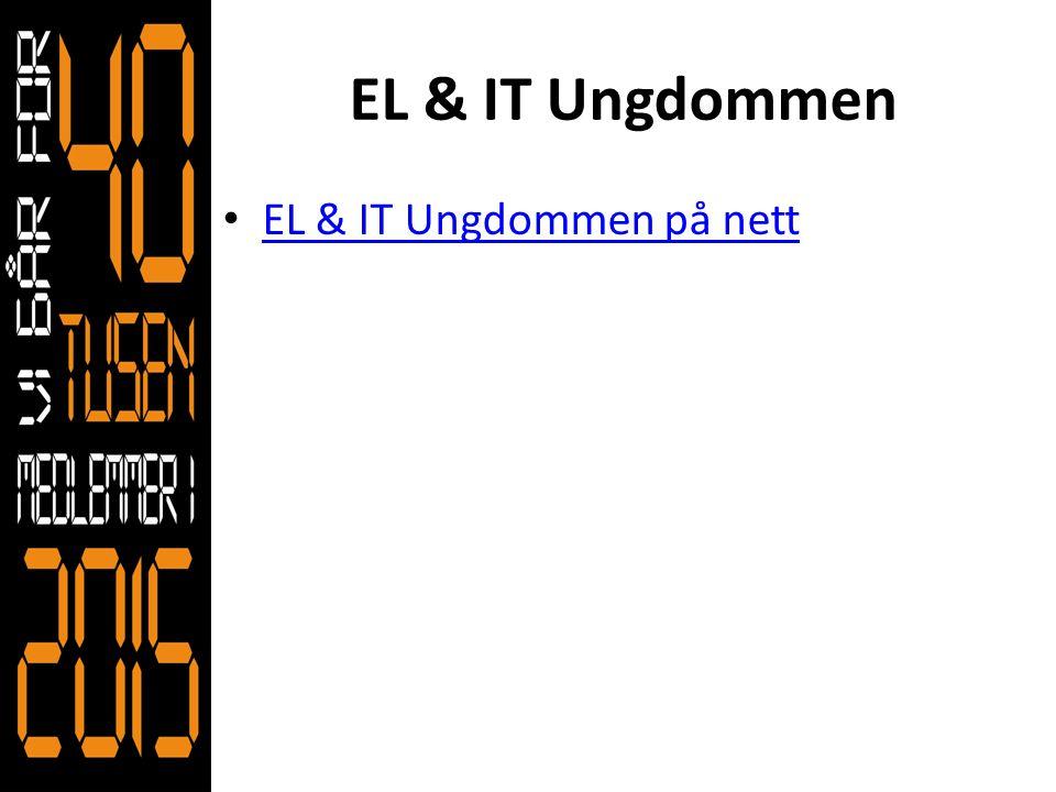 EL & IT Ungdommen • EL & IT Ungdommen på nett EL & IT Ungdommen på nett