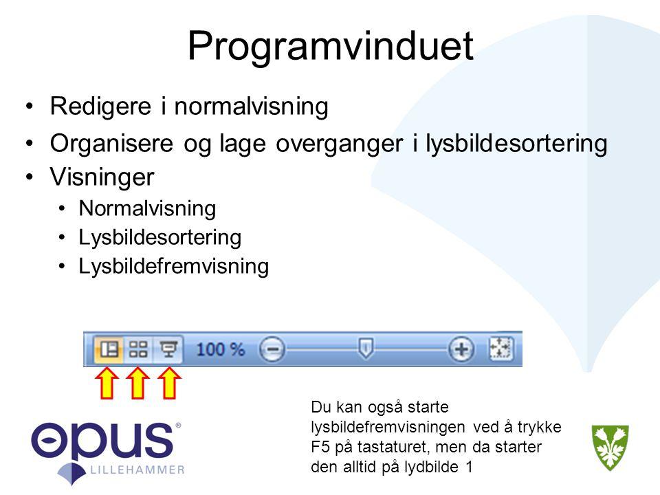 Redigere Lysbilder Redigere tekst og objekter •Du kan enkelt redigere tekst i PowerPoint.