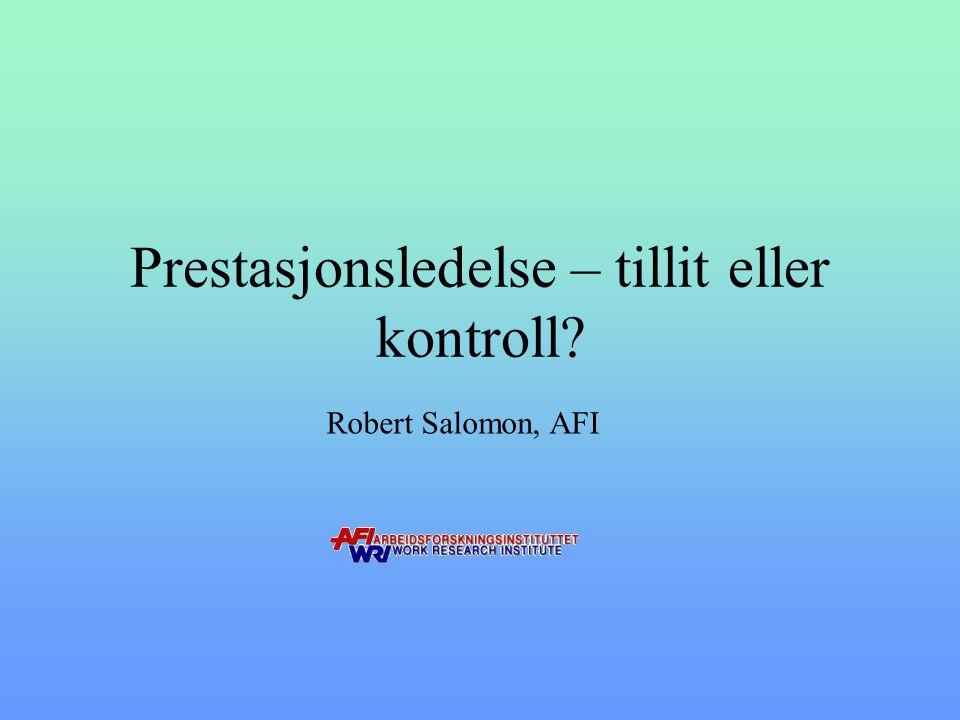 Robert Salomon 2011 Opplevd arbeidsmiljø Aktør Brikke Krav Kontroll
