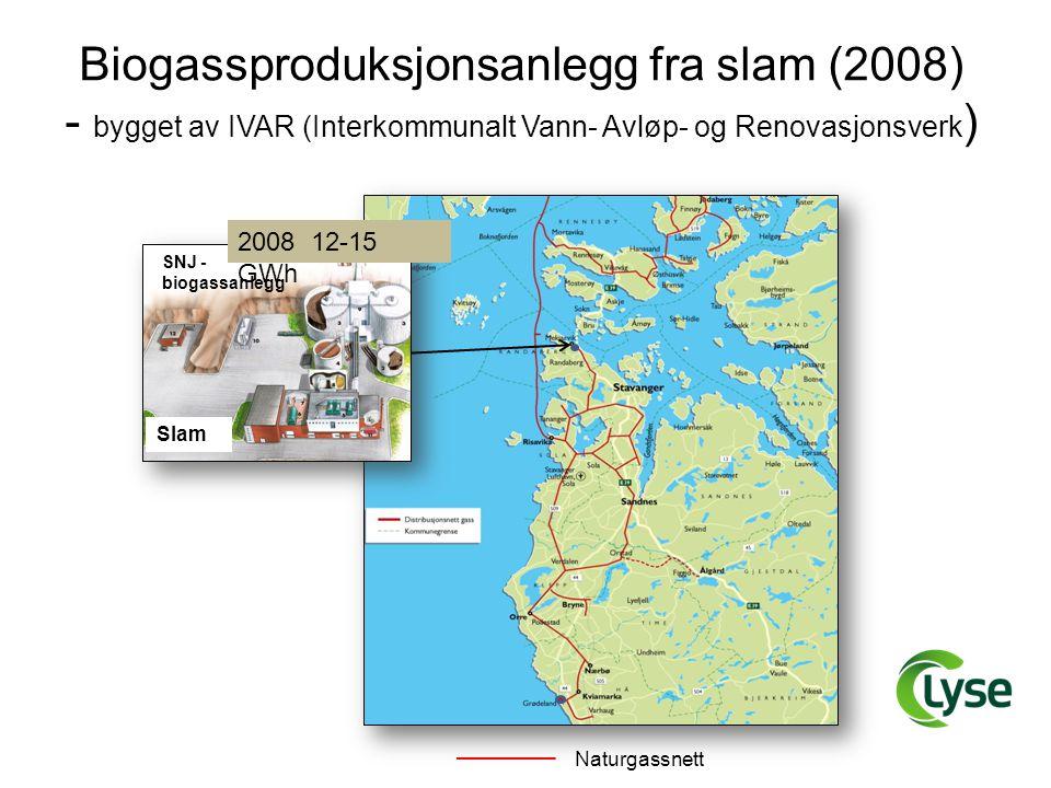 Naturgassnett Biogassproduksjonsanlegg fra slam (2008) - bygget av IVAR (Interkommunalt Vann- Avløp- og Renovasjonsverk ) SNJ - biogassanlegg Slam 200