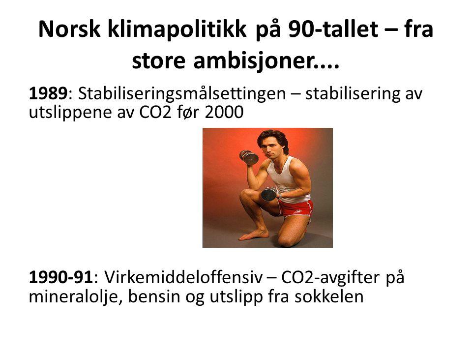 Norsk klimapolitikk på 90-tallet – fra store ambisjoner....