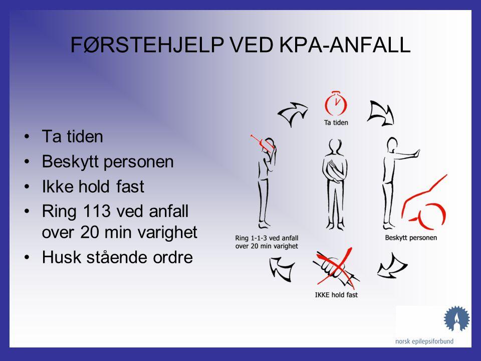 KOMPLEKSE PARTIELLE ANFALL (KPA) •Utforming: –Redusert bevissthet –Tendens til automatismer - gjentar ord, smatter, plukker på klærne, går planløst om