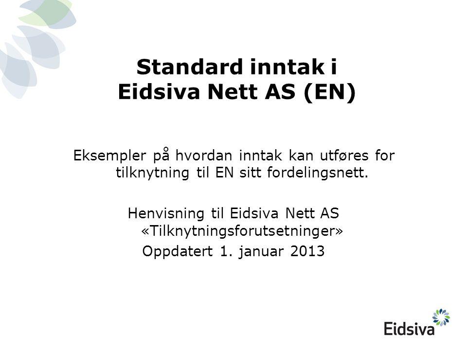 Standard inntak i Eidsiva Nett AS (EN) Eksempler på hvordan inntak kan utføres for tilknytning til EN sitt fordelingsnett. Henvisning til Eidsiva Nett