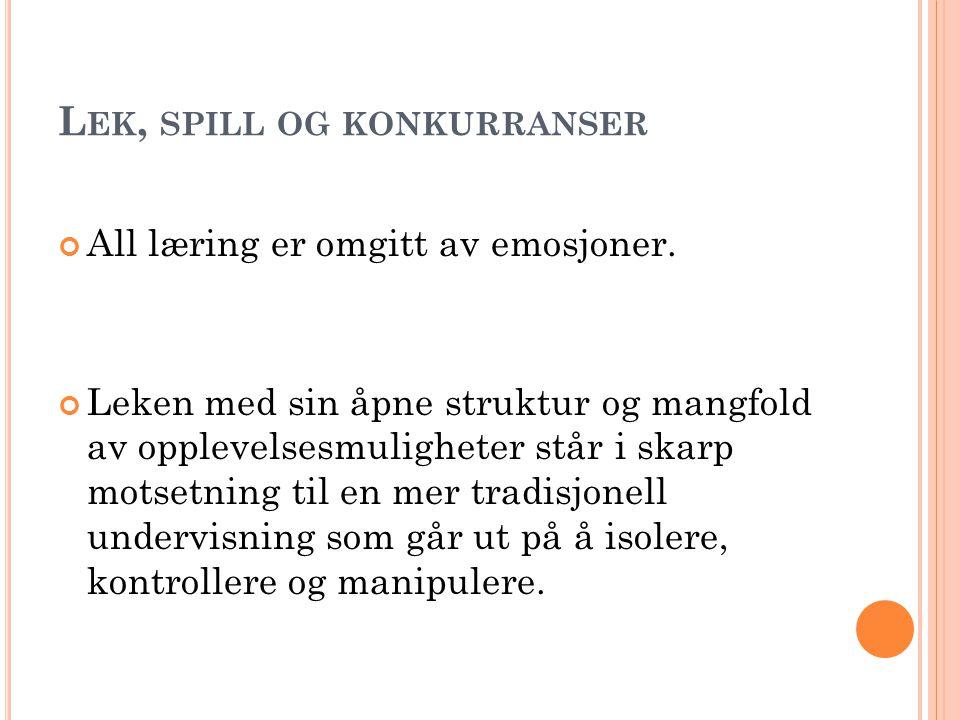 S EKKEHOPP P OENGBEREGNINGER : - STILKARAKTERER SAMMEN MED TID. I DEALTID.