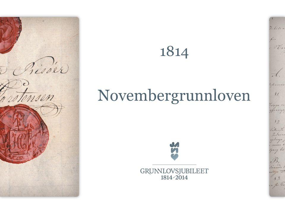 1814 Novembergrunnloven