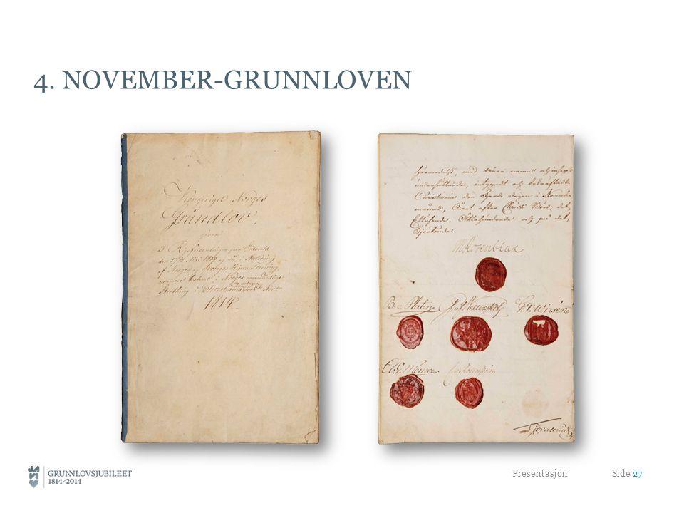 4. NOVEMBER-GRUNNLOVEN Presentasjon Side 27