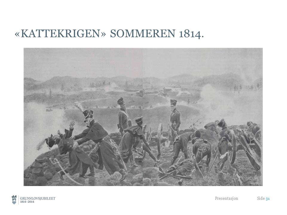 «KATTEKRIGEN» SOMMEREN 1814. Presentasjon Side 31