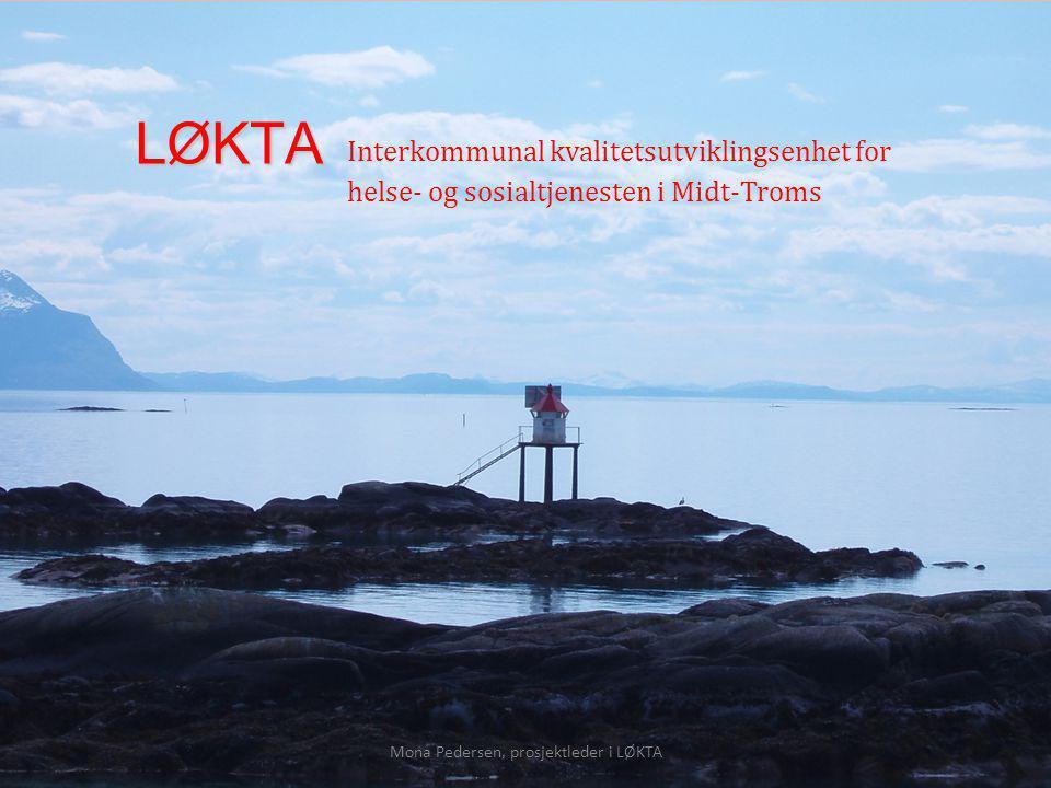 LØKTA Interkommunal kvalitetsutviklingsenhet for helse- og sosialtjenesten i Midt-Troms Fagdag geriatri, UNN HF 2. og 3. mai 2012 Prosjekt «Alvorlig s
