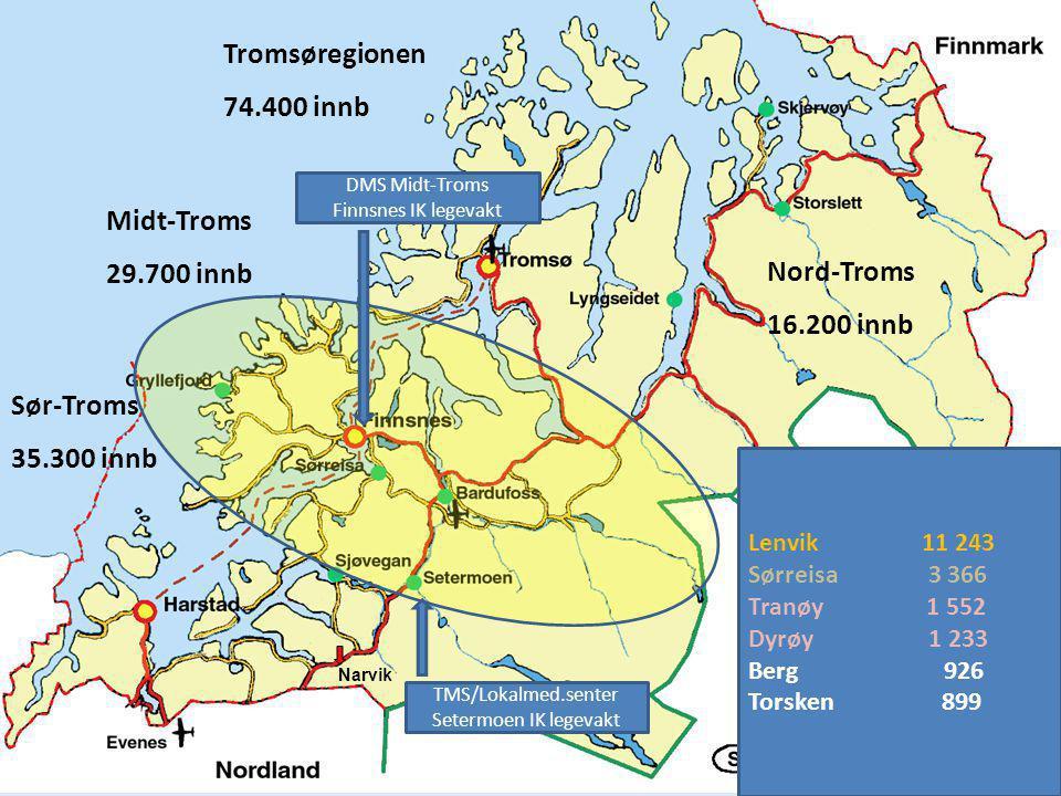 Sammen skaper vi tiltak og trivsel! Narvik Sør-Troms 35.300 innb Midt-Troms 29.700 innb Tromsøregionen 74.400 innb Nord-Troms 16.200 innb Lenvik 11 24