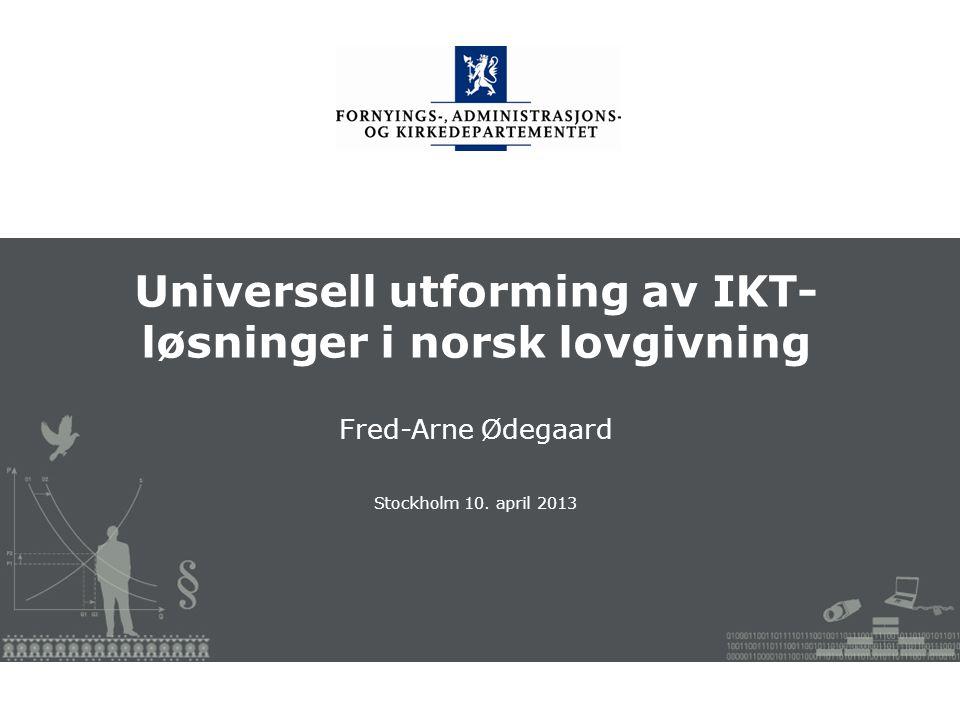 Fornyings-, administrasjons- og kirkedepartementet Norsk mal: Startside Tips språkmal Klikk på utformingsfanen og velg DEPMAL – ønsket språk.