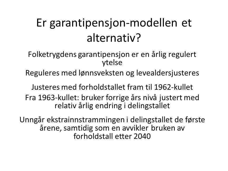 Er garantipensjon-modellen et alternativ.