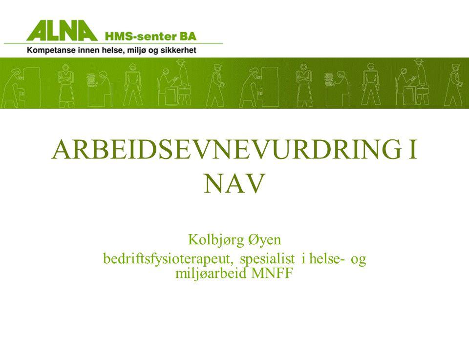 Bacheloroppgave / ergoterapeuter På hvilken måte mener NAV-ansatte at arbeidsevnevurderingen kan fremme arbeidsdeltagelse for NAV's brukere.