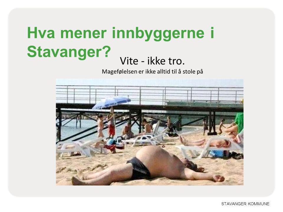STAVANGER KOMMUNE Hva mener innbyggerne i Stavanger?