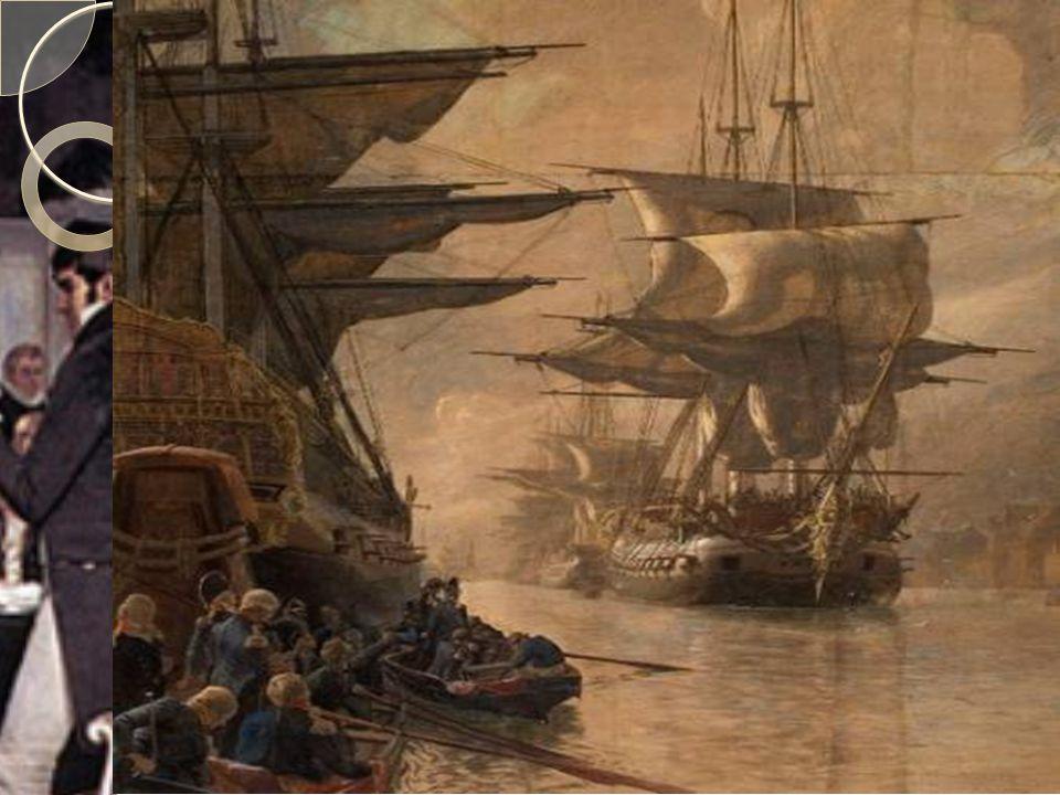 Napoleonskrigene  Danmark-Norge var nøytrale under Napoleonskrigene frem til 1807  Storbritannia tok da den dansk-norske flåten fordi Danmark-Norge ikke ønsket å gå imot Frankrike  Dette førte til at Danmark-Norge søkte beskyttelse fra Napoleon  Danmark-Norge måtte dermed støtte handelsblokaden mot Storbritannia, som ble en økonomisk katastrofe for Norge  Norske skip ble beslaglagt, og salget av varer opphørte  Import av dansk korn opphørte, og førte til matmangel i Norge  Dette førte til kraftig kritikk av dansk styre