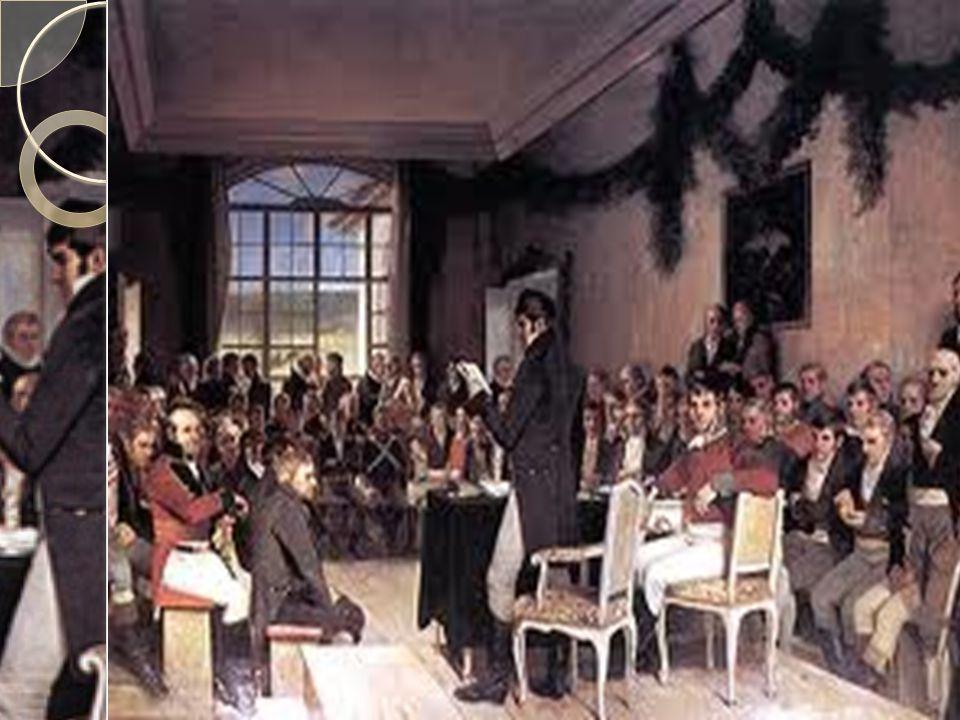 Grunnloven av 17. mai  Etter 40 dager var arbeidet med grunnloven ferdig  17. mai skulle Kristian Fredrik bli valgt til norsk konge  Hele forsamlin