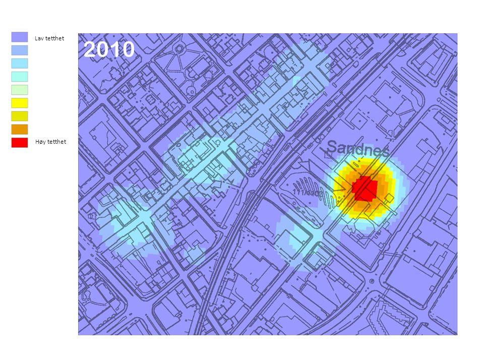 20032010 Lav tetthet Høy tetthet