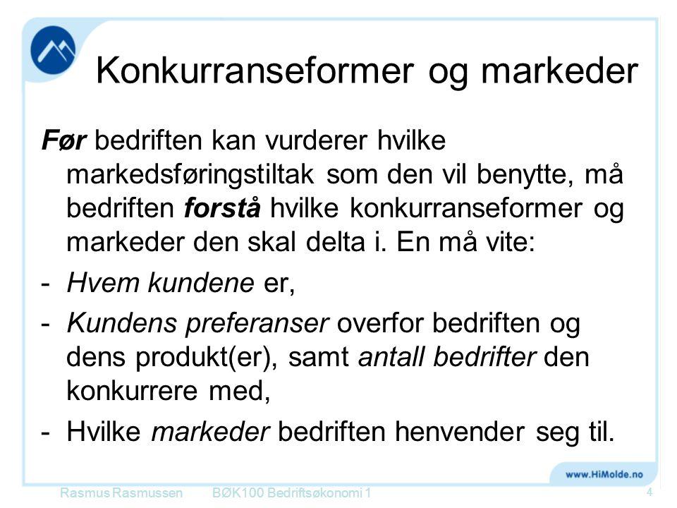 Kundene og deres preferanser •Homogent marked: Dersom kundene er indifferente, dvs ikke har preferanser, overfor den enkelte bedrift eller dens produkter.