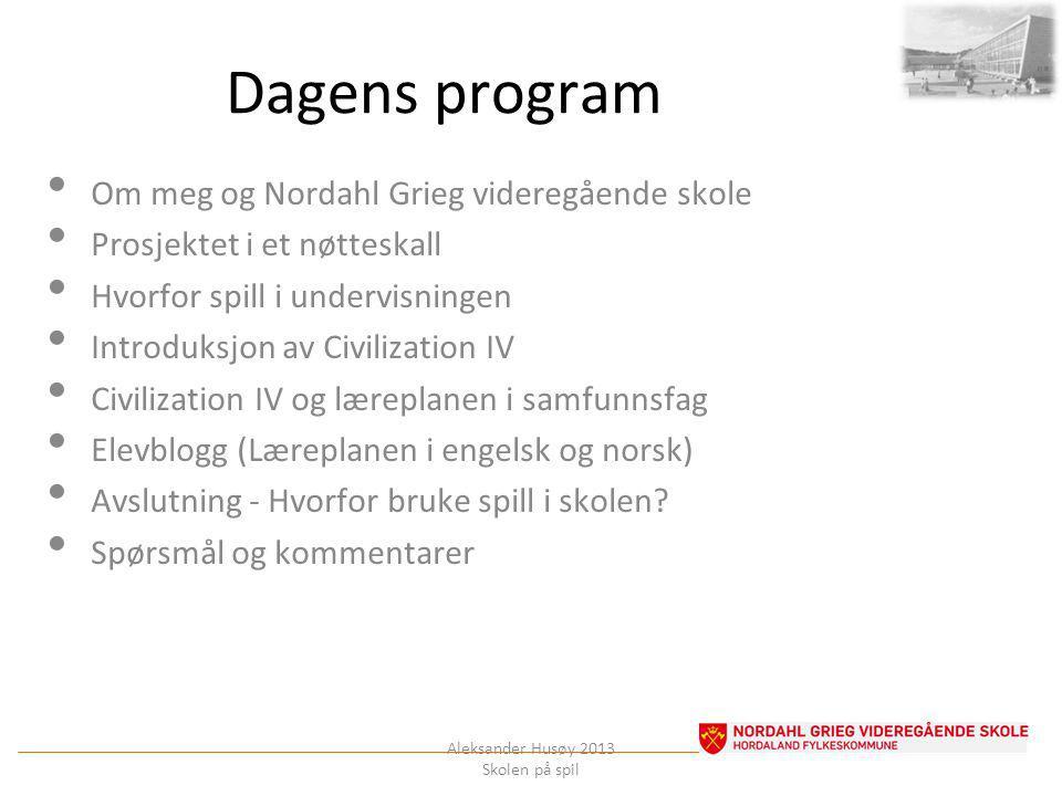 MEG Aleksander Husøy 2013 Skolen på spil