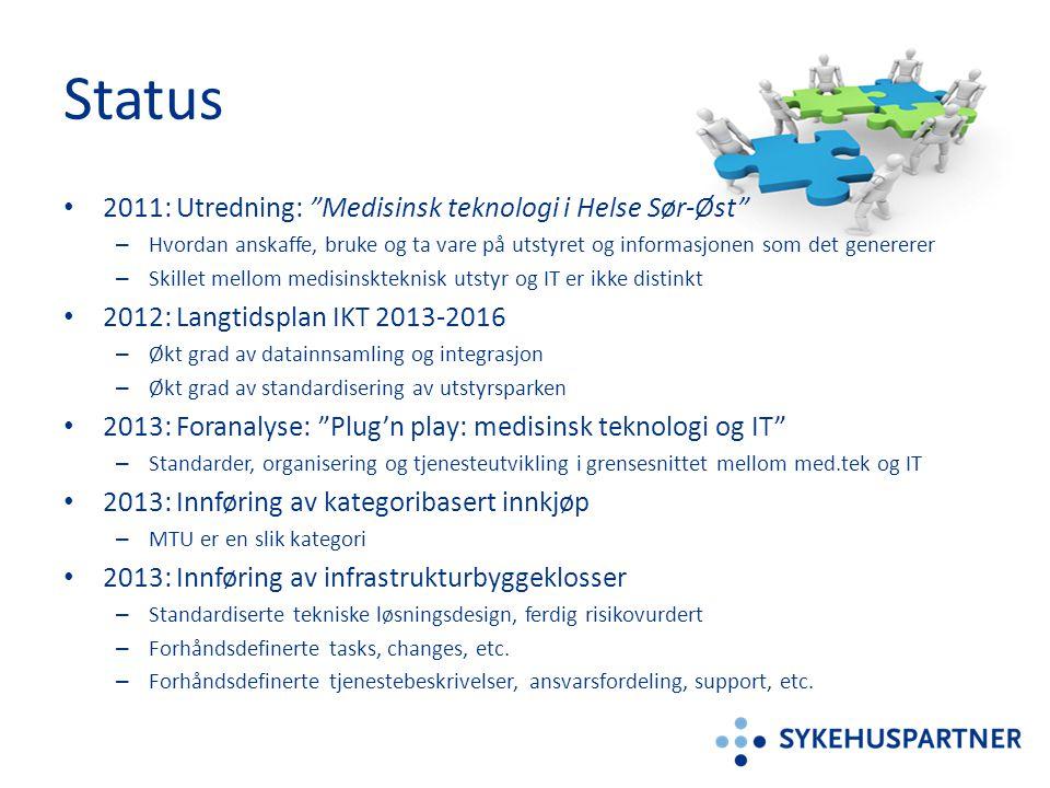 """• 2011: Utredning: """"Medisinsk teknologi i Helse Sør-Øst"""" – Hvordan anskaffe, bruke og ta vare på utstyret og informasjonen som det genererer – Skillet"""