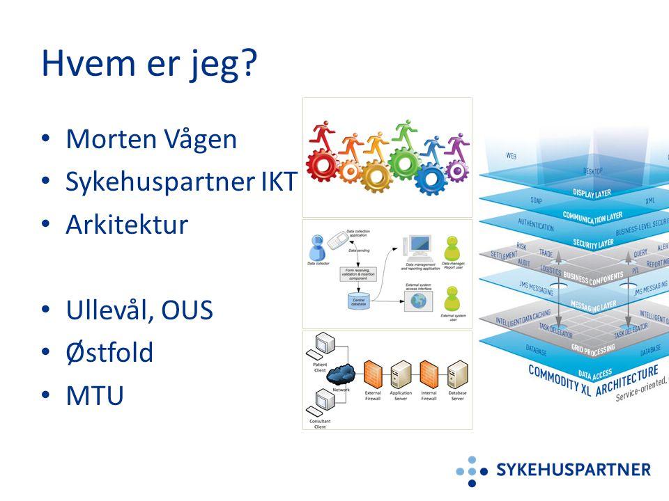 Hvem er jeg? • Morten Vågen • Sykehuspartner IKT • Arkitektur • Ullevål, OUS • Østfold • MTU