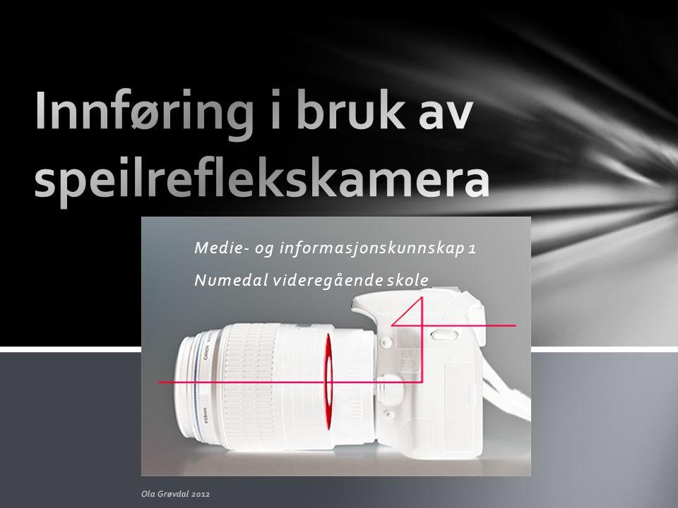 Medie- og informasjonskunnskap 1 Numedal videregående skole Ola Grøvdal 2012