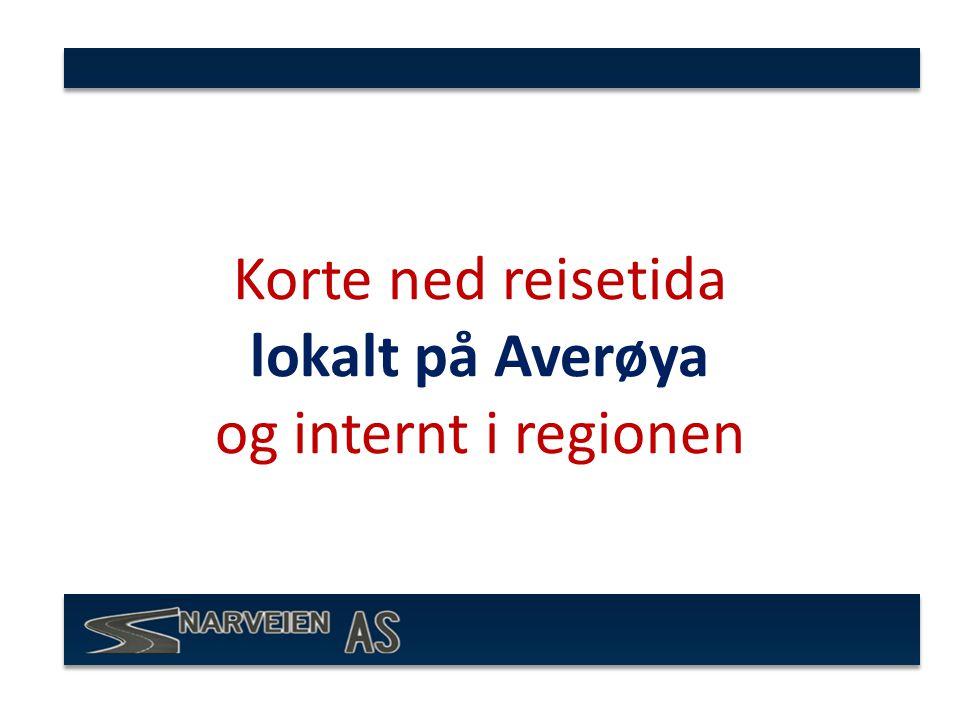 Korte ned reisetida lokalt på Averøya og internt i regionen