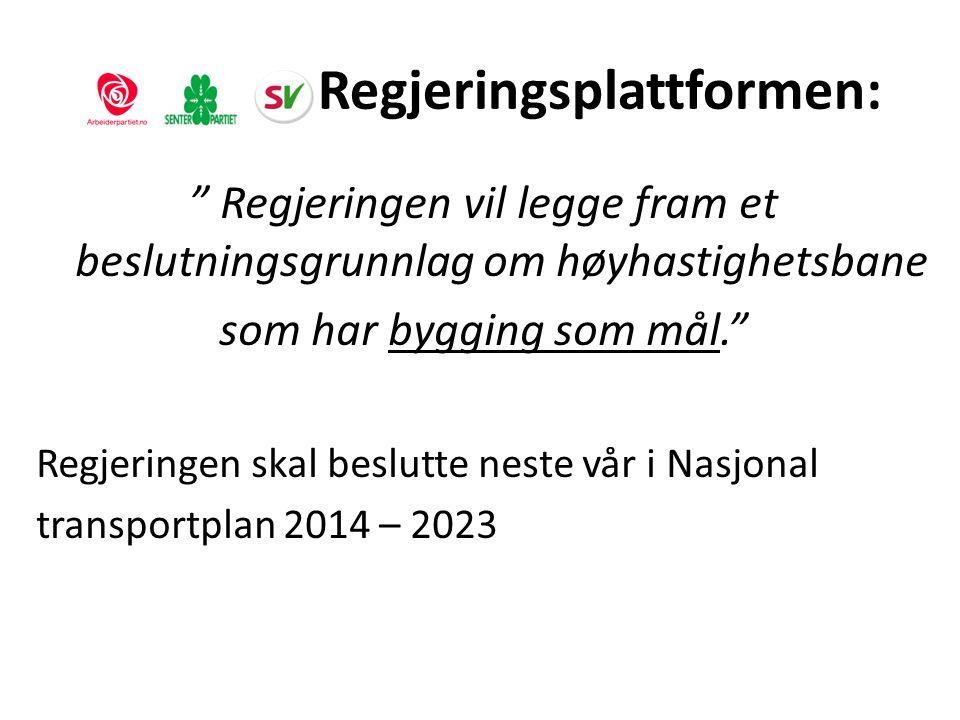 Vi bygger lyntog Alle nye linjer som kan inngå i en framtidig lyntogstrekning skal bygges for 250 km/ t + • Larvik – Porsgrunn • Holm – Nykirke • Oslo - Ski