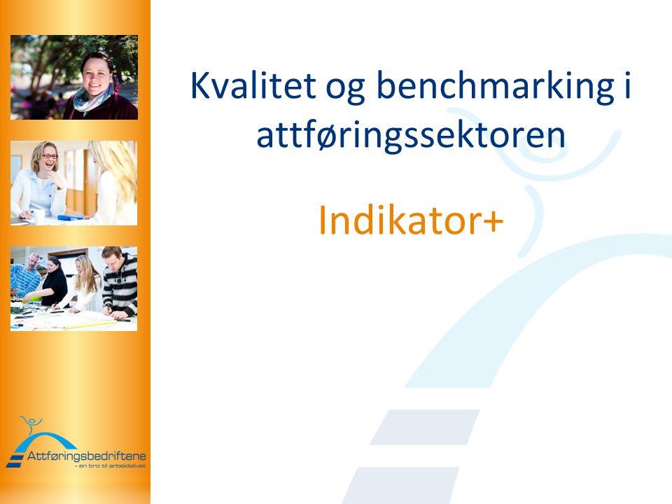 Kvalitet og benchmarking i attføringssektoren Indikator+