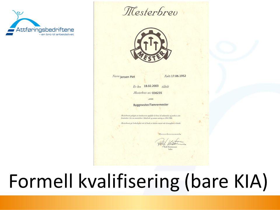 Formell kvalifisering (bare KIA)