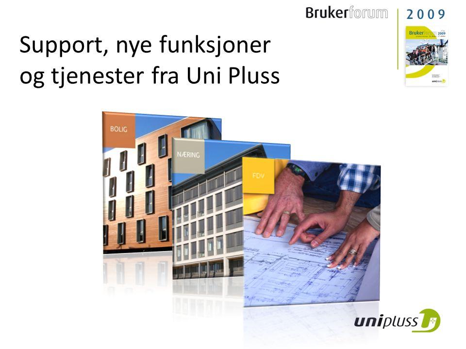 Support, nye funksjoner og tjenester fra Uni Pluss