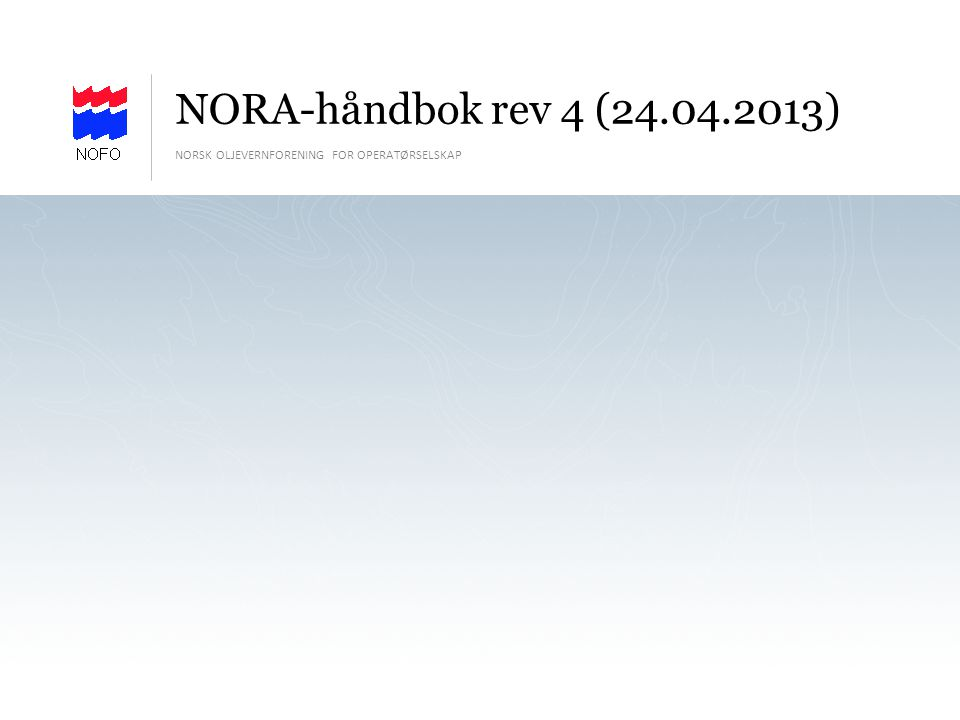 NORSK OLJEVERNFORENING FOR OPERATØRSELSKAP | SIDE 52 Kartfunksjoner – Oljedrift - input i Kilden I dette skjermbildet legger en inn inngangsdata i de tomme feltene.