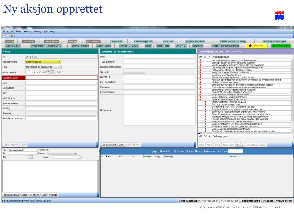 NORSK OLJEVERNFORENING FOR OPERATØRSELSKAP | SIDE 16 Arbeidsoppgaver i NORA – informasjon (i) Ved i trykke på «i» knappen får en opp i «boksen» til venstre; informasjon om oppgaveliste.