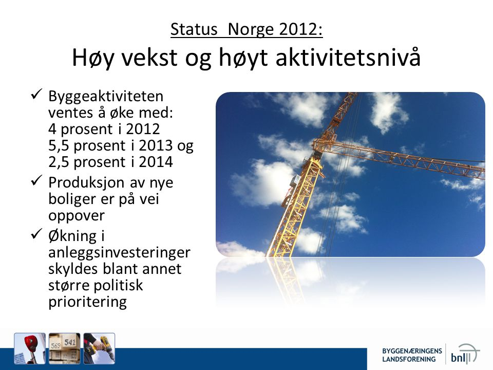 Næringspolitiske utfordringer Hvem renoverer og pusser opp norske hus.